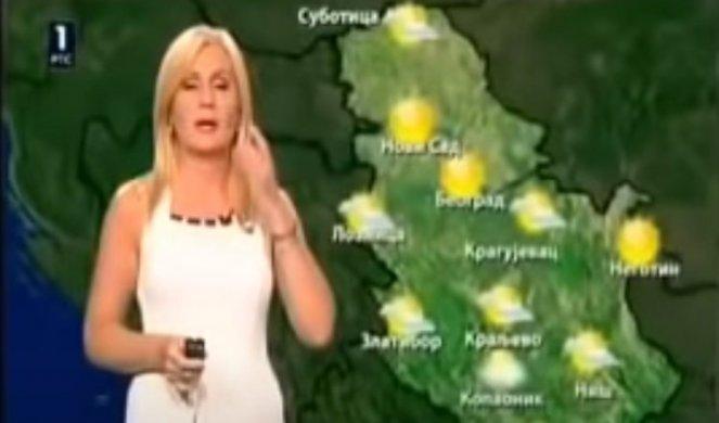 PEH U EMISIJI UŽIVO! Voditeljka vremenske prognoze NIJE VIDELA DA SU KAMERE UKLJUČENE, pa uradila ovo! KAMERMAN uživao (VIDEO)