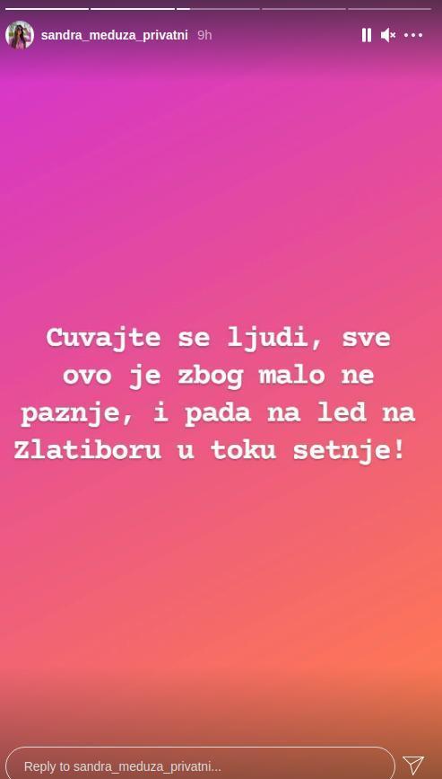 Sandra Meduza Foto: Instagram printscreen/sandra_meduza_privatni