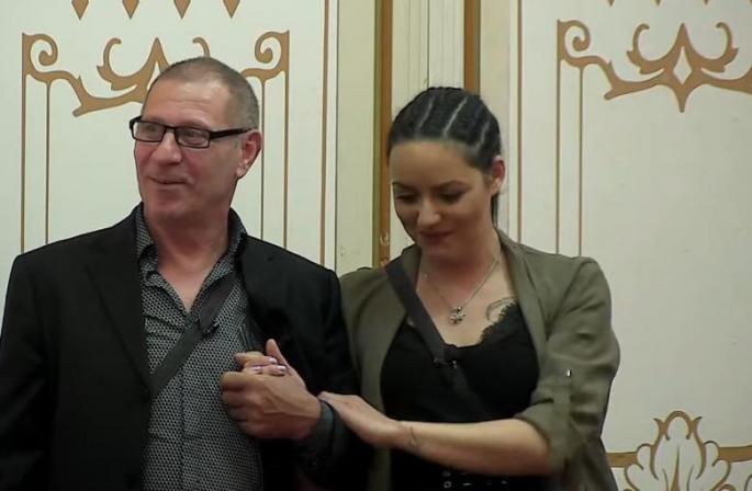 Bane Trebinjac i Slađa Lazić Foto: TV Happy printscreen